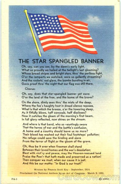翻译美国国歌《星条旗》the star spangled banner
