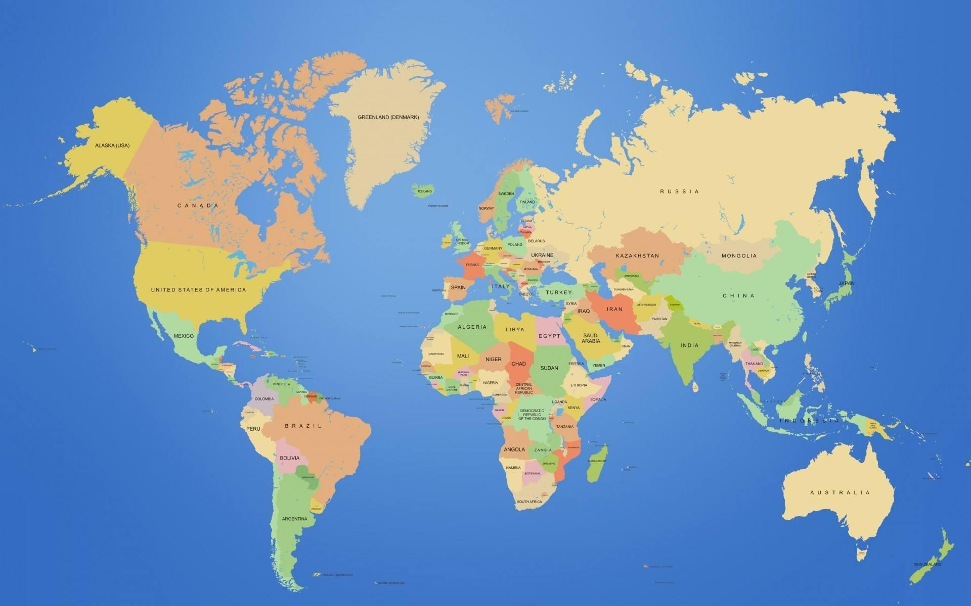 世界上国家和地区一览表图片